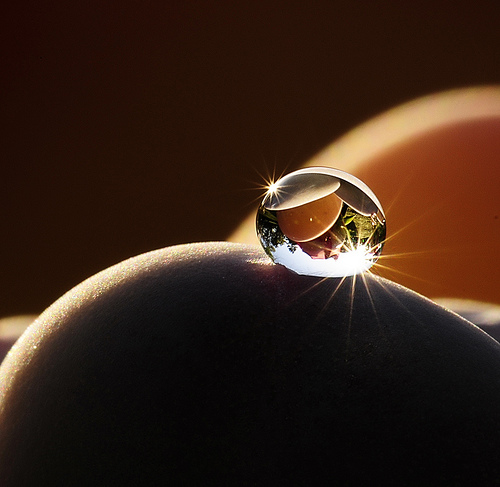 Crystal Clear Water Droplet