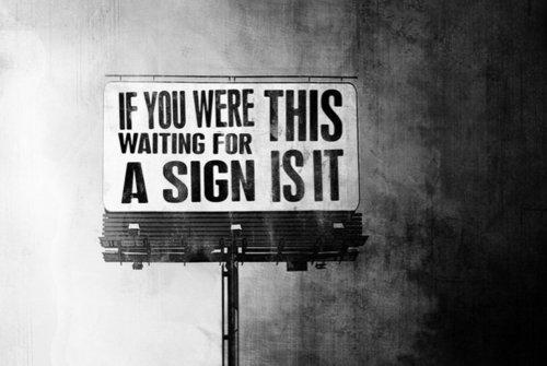 evolutionyou.net | waiting for a sign