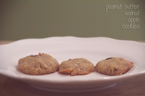 evolutionyou.net | peanut butter apple walnut cookies