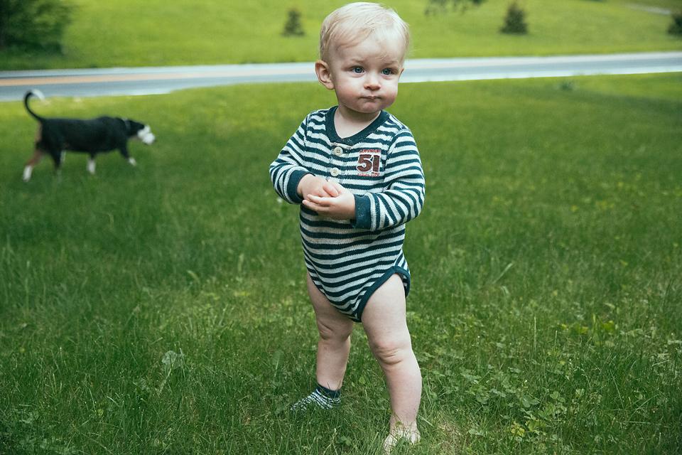 toddler boy in grass