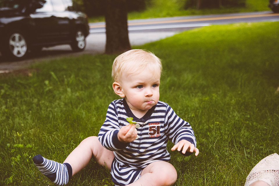 toddler boy in grass