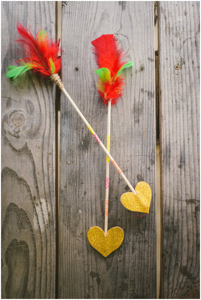 heart-shaped arrows DIY | livelovesimple.com