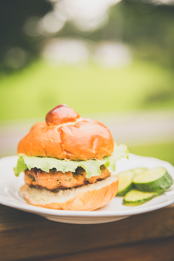 salmon burgers recipe | livelovesimple.com