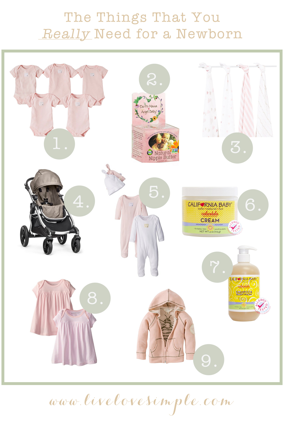 Things That You Really Need for a Newborn // livelovesimple.com