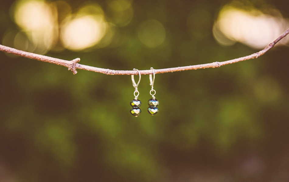 green earrings // livelovesimple.com
