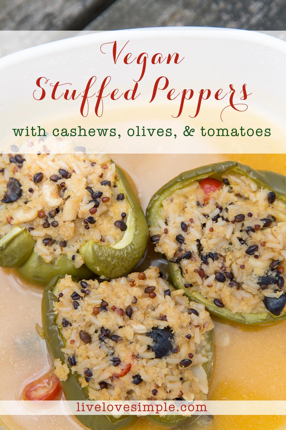 vegan stuffed peppers // livelovesimple.com
