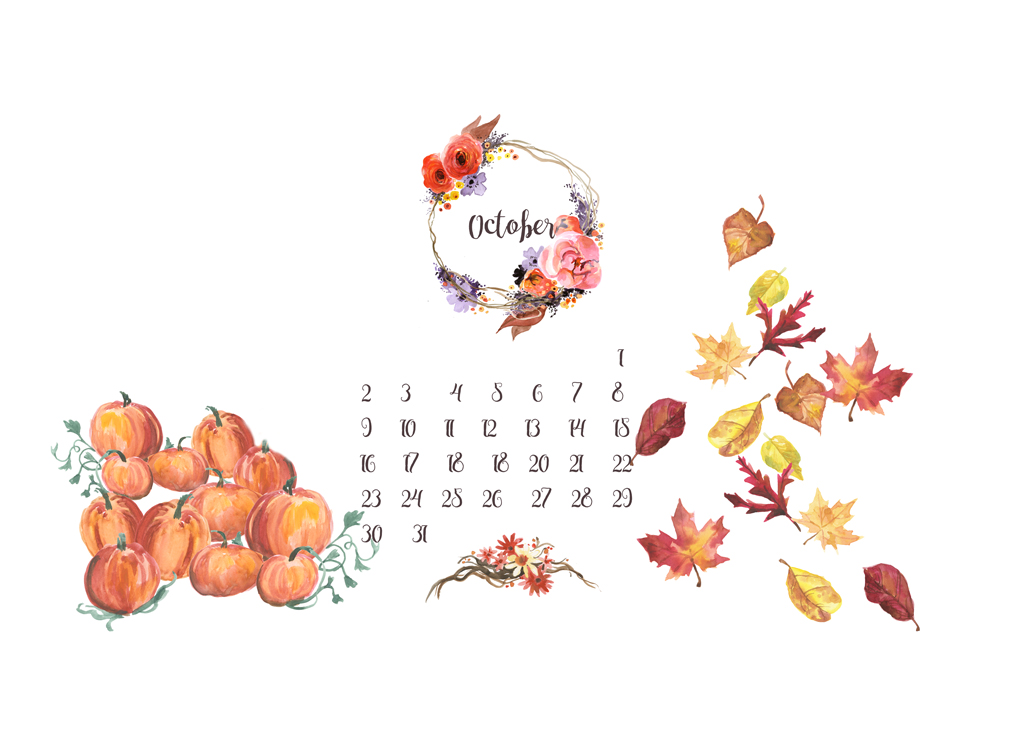 Free Desktop Calendar Wallpaper : Free desktop calendar background october live love