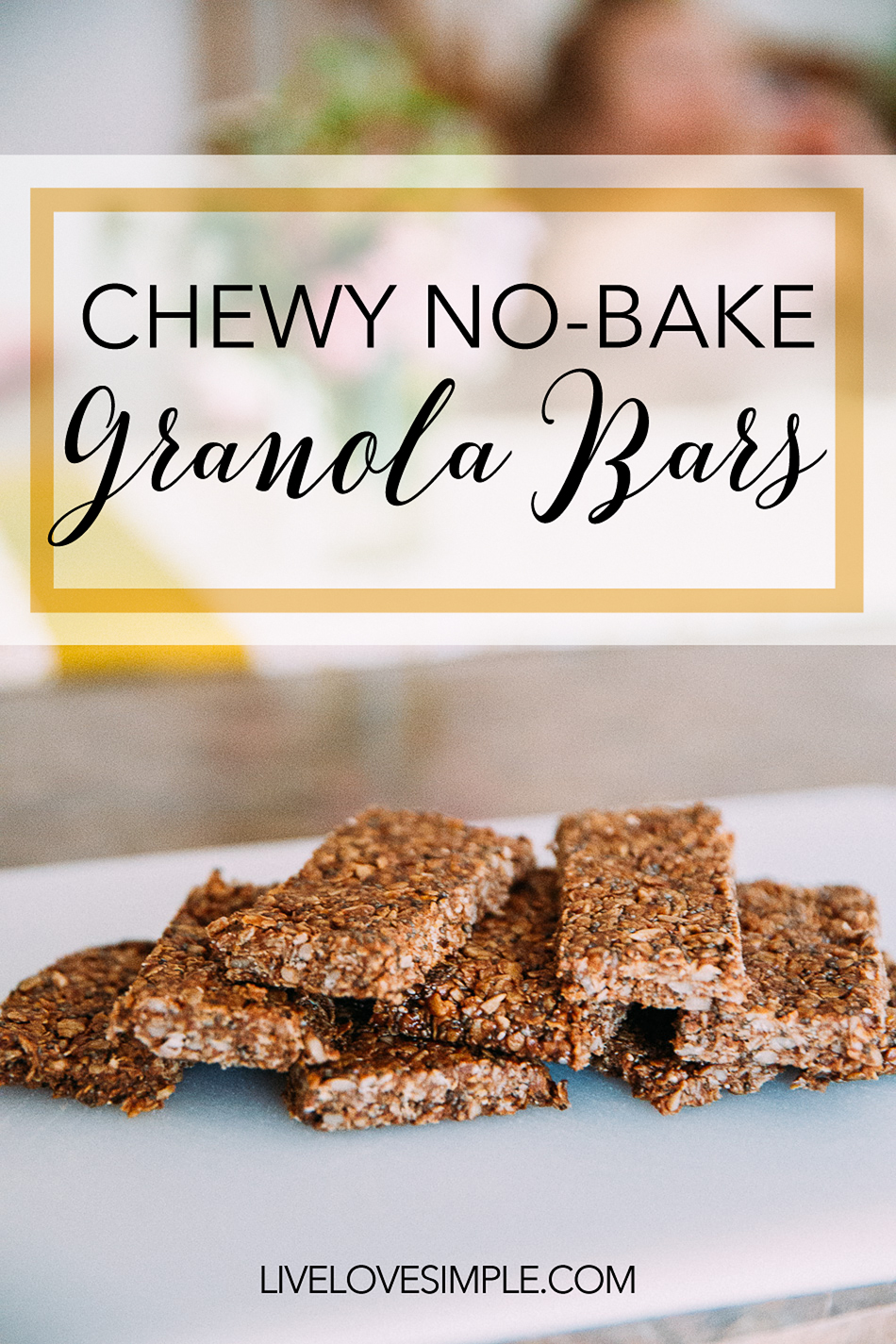Chewy No-Bake Granola Bars // livelovesimple.com