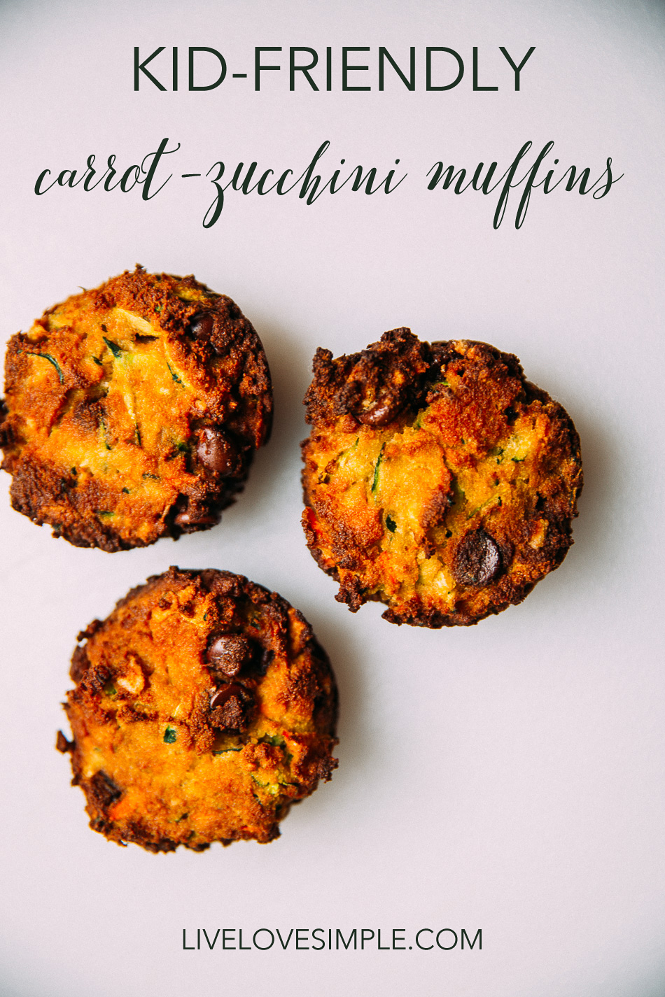 Kid-Friendly Carrot-Zucchini Muffins// livelovesimple.com