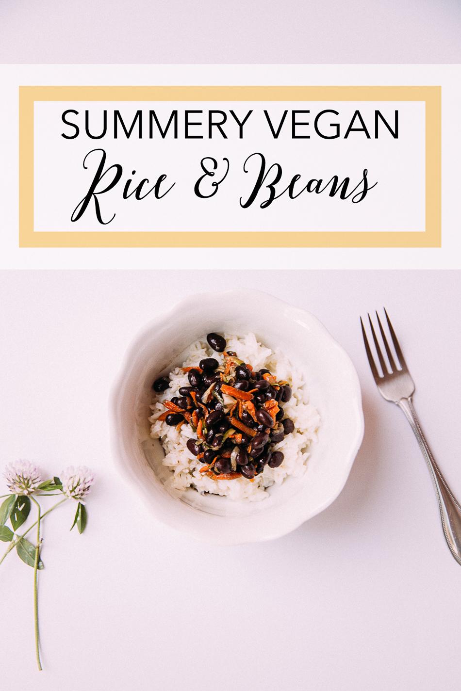 Summery Vegan Rice & Beans // livelovesimple.com