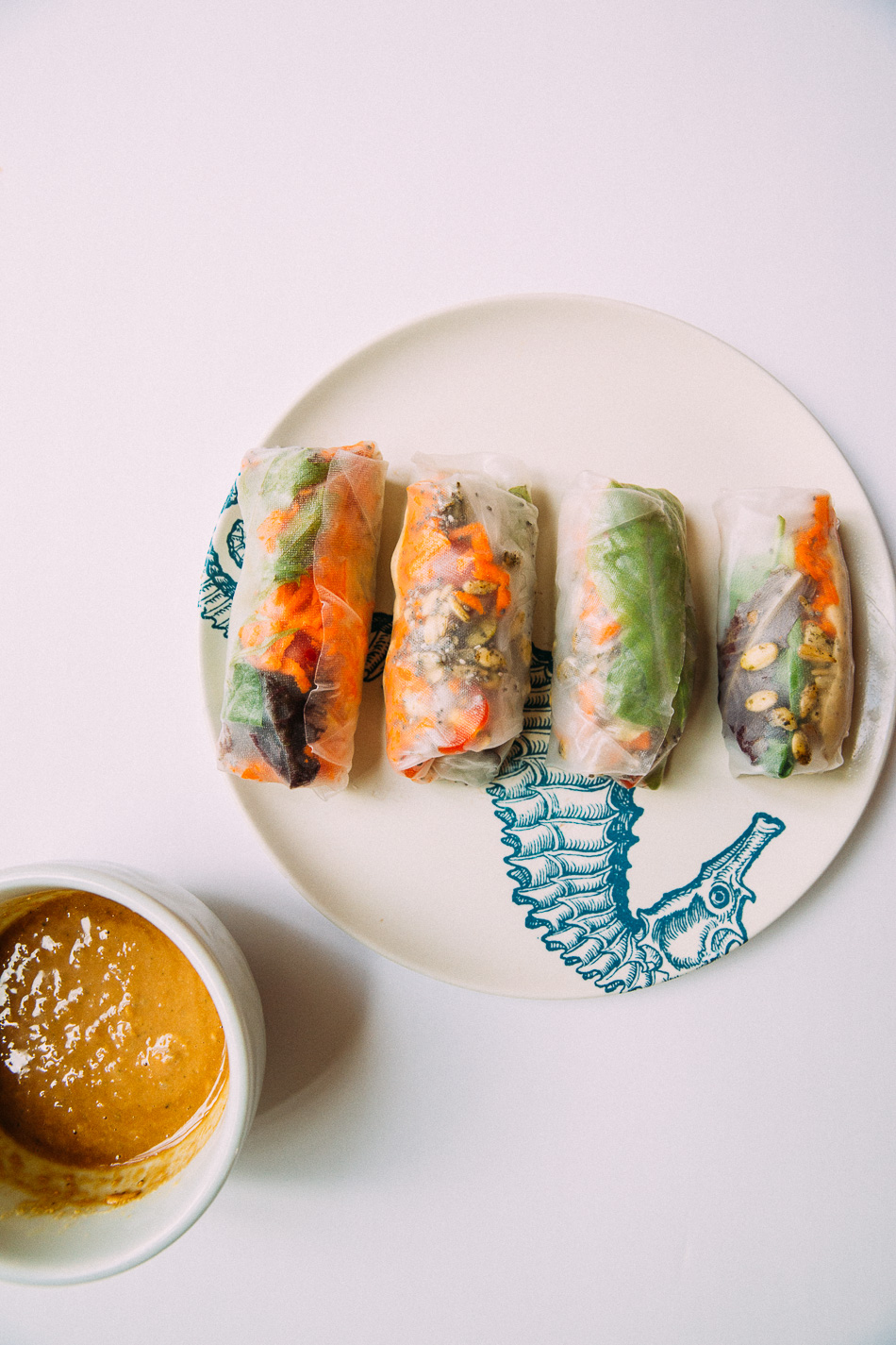 Raw Vegan Spring Rolls // livelovesimple.com