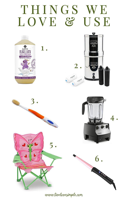 things we love & use