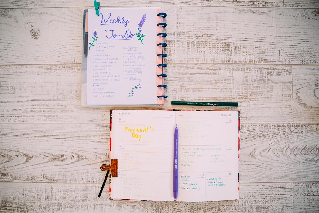 time management // list keeping