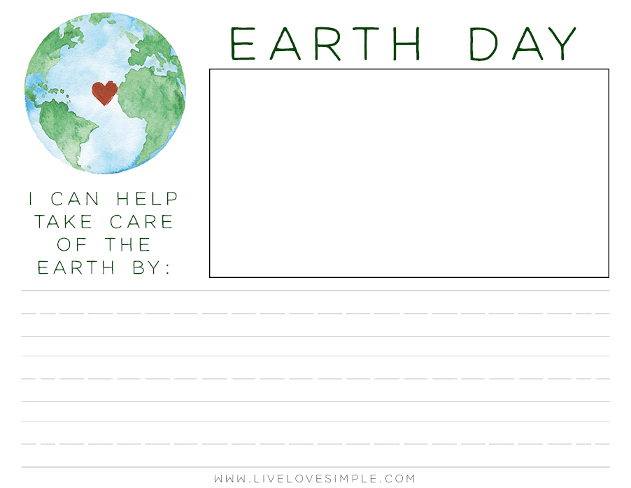 free earth day printable